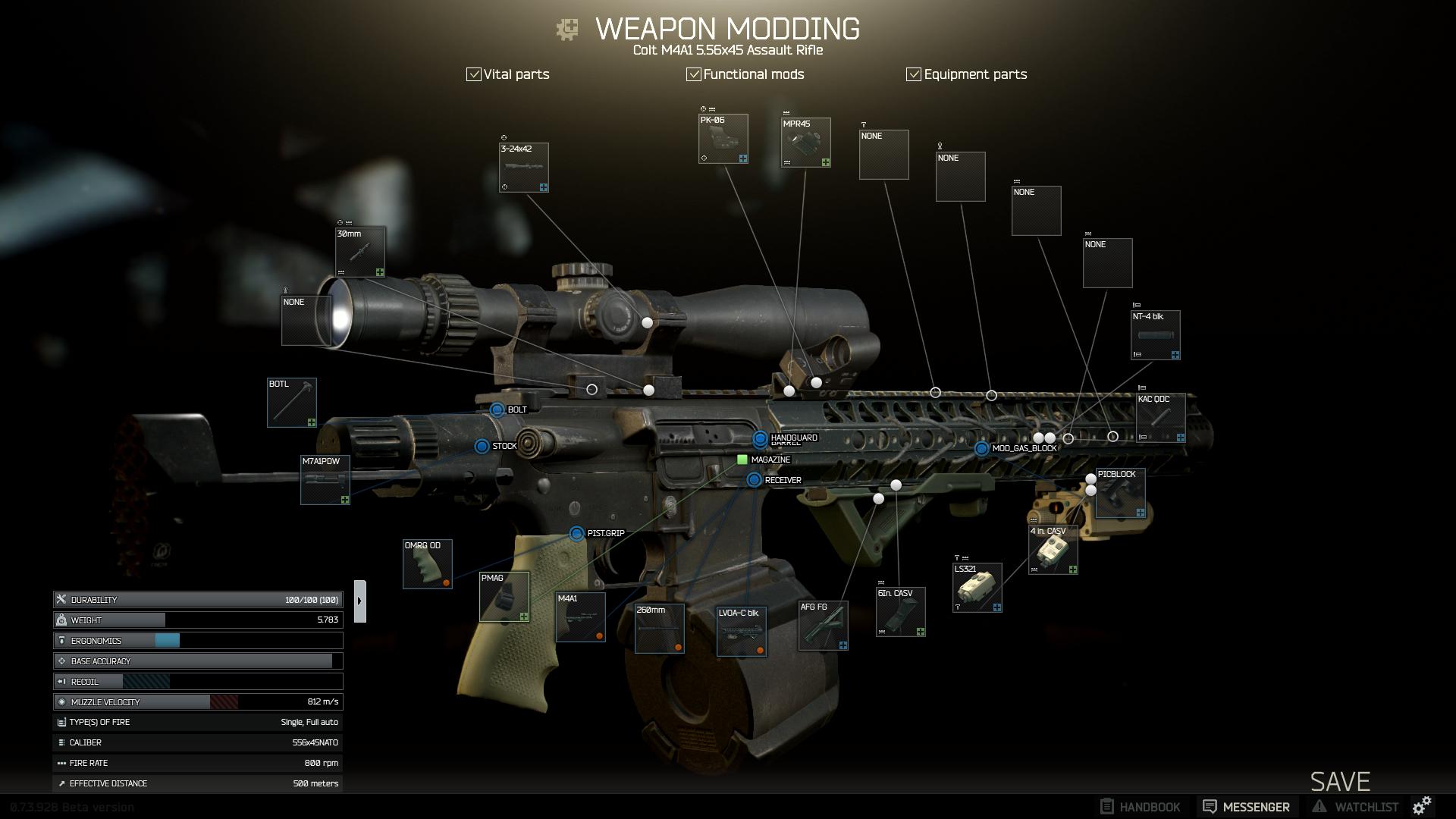 Ein Setup für die M4A1 Distanz und Nahkampf