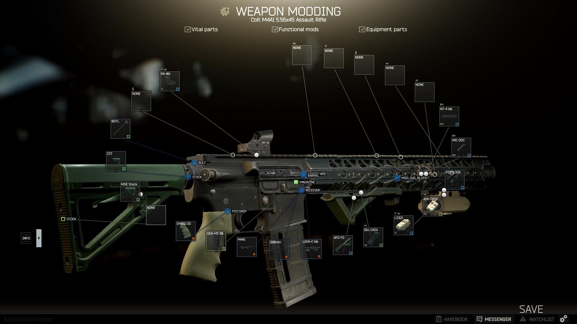 Ein Setup für die M4A1 Nahkampf