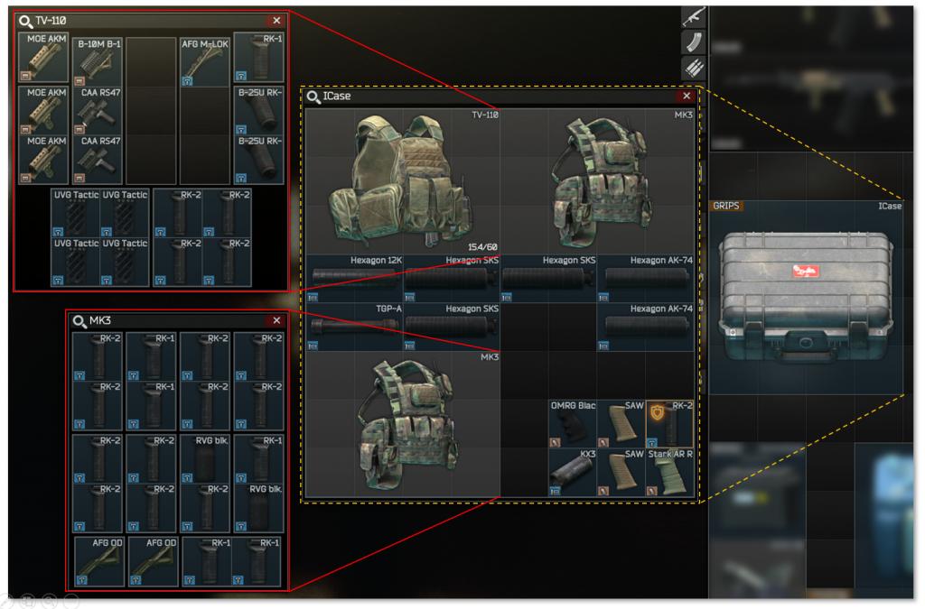 Stash/Inventar mit Item-Case und Tactical Rigs optimieren
