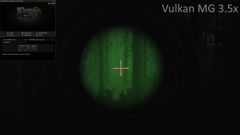 EFT Night Vision Vulkan Scope