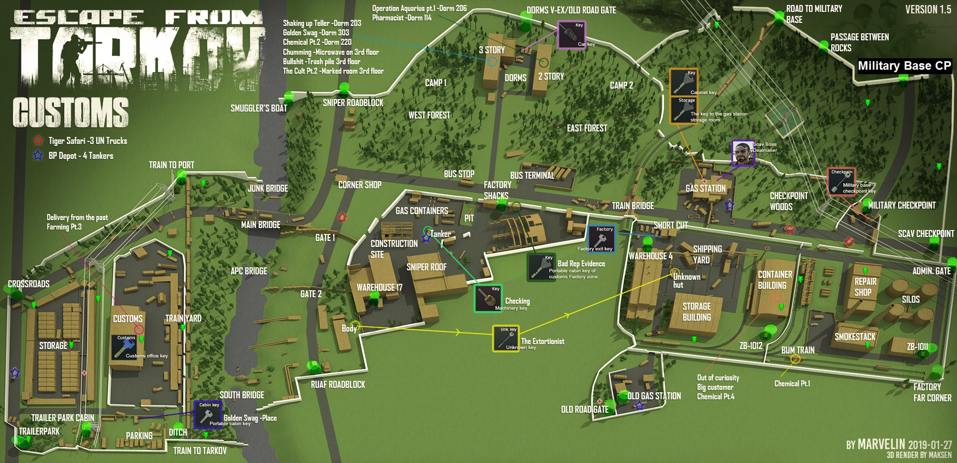 Die Karten für EFT/ EFT Maps